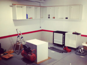 garaje sin aprovechar espacio de organizacion